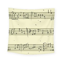 Music Notes On A Color Background Square Tapestry (small)