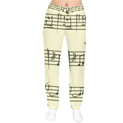 Music Notes On A Color Background Drawstring Pants