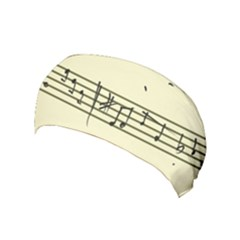 Music Notes On A Color Background Yoga Headband