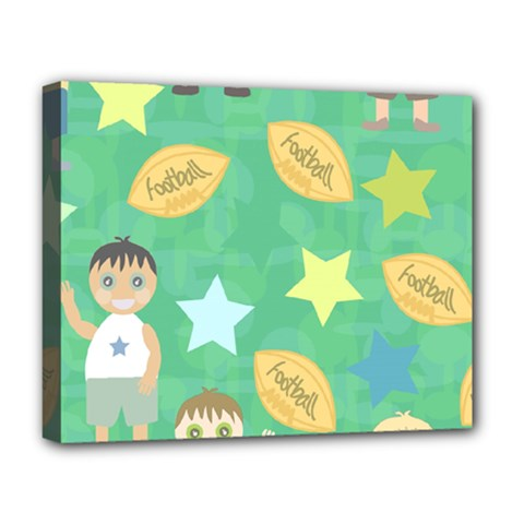Football Kids Children Pattern Deluxe Canvas 20  X 16