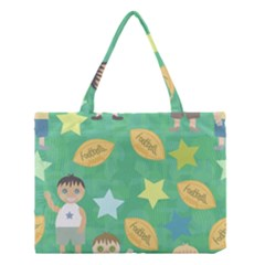 Football Kids Children Pattern Medium Tote Bag