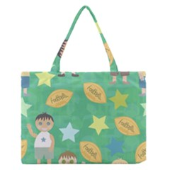 Football Kids Children Pattern Medium Zipper Tote Bag
