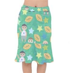 Football Kids Children Pattern Mermaid Skirt