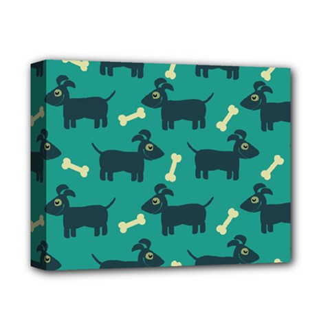 Happy Dogs Animals Pattern Deluxe Canvas 14  x 11