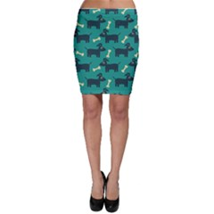 Happy Dogs Animals Pattern Bodycon Skirt