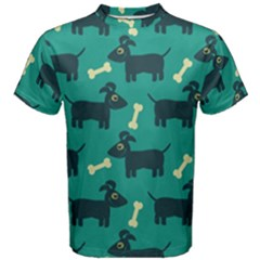 Happy Dogs Animals Pattern Men s Cotton Tee