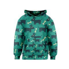 Happy Dogs Animals Pattern Kids  Pullover Hoodie