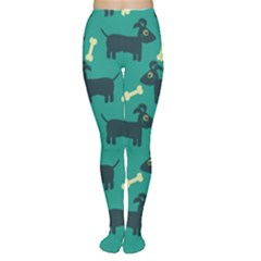 Happy Dogs Animals Pattern Women s Tights
