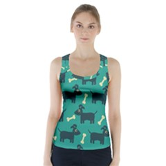 Happy Dogs Animals Pattern Racer Back Sports Top