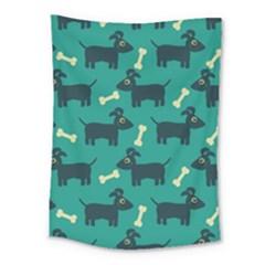 Happy Dogs Animals Pattern Medium Tapestry