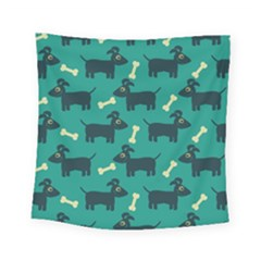 Happy Dogs Animals Pattern Square Tapestry (small)
