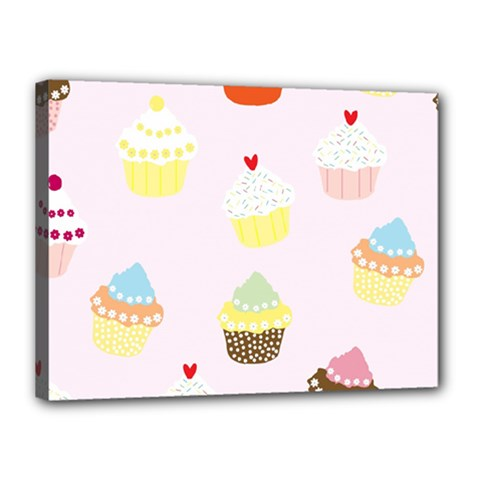 Seamless Cupcakes Wallpaper Pattern Background Canvas 16  x 12