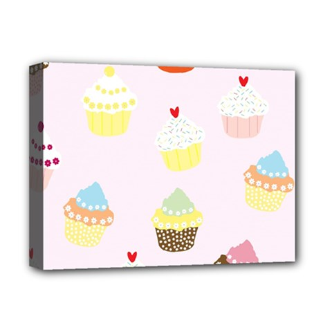Seamless Cupcakes Wallpaper Pattern Background Deluxe Canvas 16  X 12