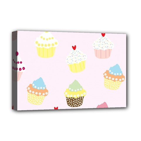 Seamless Cupcakes Wallpaper Pattern Background Deluxe Canvas 18  x 12