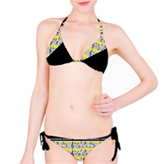 Note Abstract Paintwork Bikini Set