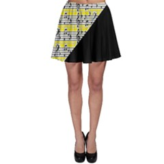 Note Abstract Paintwork Skater Skirt