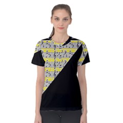 Note Abstract Paintwork Women s Cotton Tee