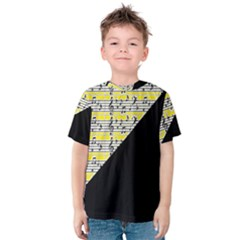 Note Abstract Paintwork Kids  Cotton Tee