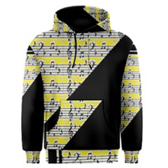 Note Abstract Paintwork Men s Pullover Hoodie