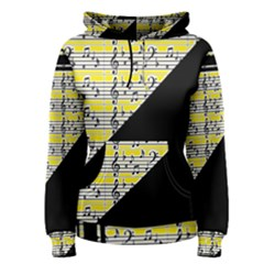 Note Abstract Paintwork Women s Pullover Hoodie