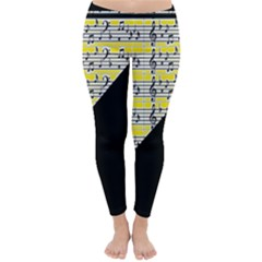 Note Abstract Paintwork Classic Winter Leggings