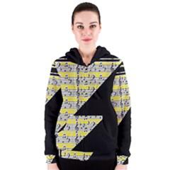 Note Abstract Paintwork Women s Zipper Hoodie