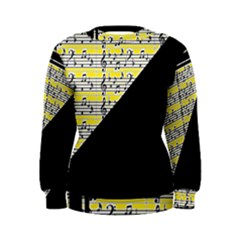 Note Abstract Paintwork Women s Sweatshirt