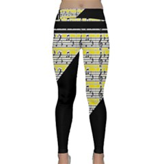 Note Abstract Paintwork Classic Yoga Leggings