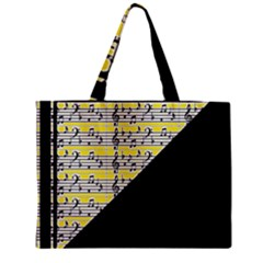 Note Abstract Paintwork Zipper Mini Tote Bag