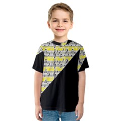 Note Abstract Paintwork Kids  Sport Mesh Tee