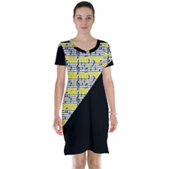 Note Abstract Paintwork Short Sleeve Nightdress