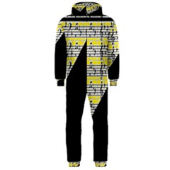 Note Abstract Paintwork Hooded Jumpsuit (men)