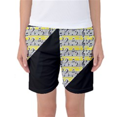 Note Abstract Paintwork Women s Basketball Shorts