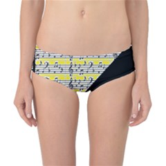 Note Abstract Paintwork Classic Bikini Bottoms