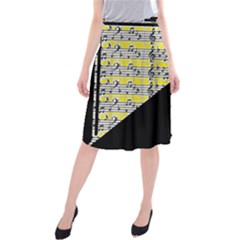 Note Abstract Paintwork Midi Beach Skirt