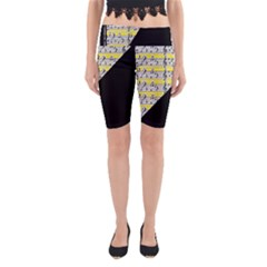 Note Abstract Paintwork Yoga Cropped Leggings