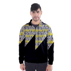 Note Abstract Paintwork Wind Breaker (Men)