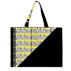 Note Abstract Paintwork Large Tote Bag