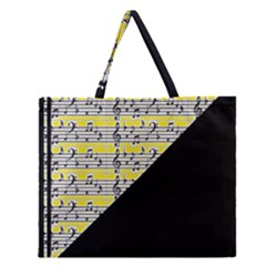 Note Abstract Paintwork Zipper Large Tote Bag