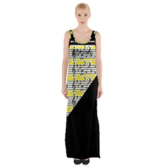 Note Abstract Paintwork Maxi Thigh Split Dress