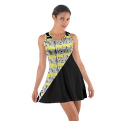 Note Abstract Paintwork Cotton Racerback Dress