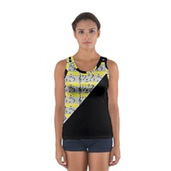 Note Abstract Paintwork Women s Sport Tank Top