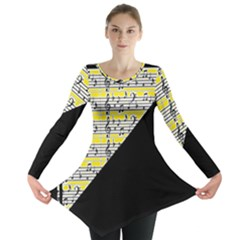Note Abstract Paintwork Long Sleeve Tunic