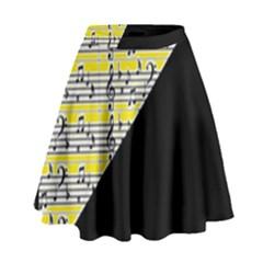 Note Abstract Paintwork High Waist Skirt