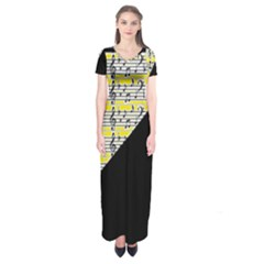 Note Abstract Paintwork Short Sleeve Maxi Dress