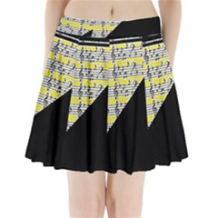 Note Abstract Paintwork Pleated Mini Skirt