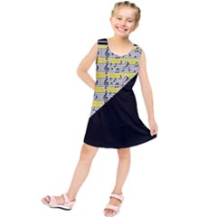 Note Abstract Paintwork Kids  Tunic Dress