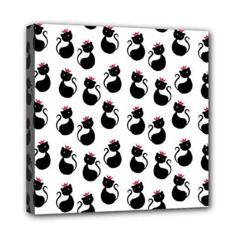 Cat Seamless Animals Pattern Mini Canvas 8  x 8