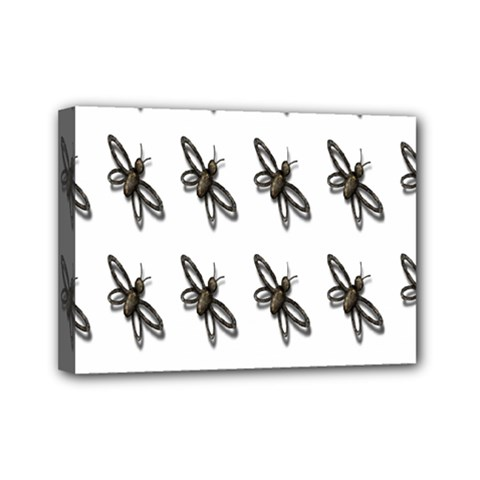 Insect Animals Pattern Mini Canvas 7  X 5