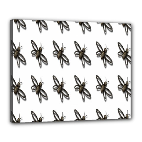 Insect Animals Pattern Canvas 20  x 16